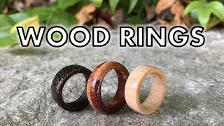 How to Make Wood Rings With a Dremel