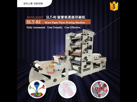 SLT-RI High Speed 2 Color 4 Colors Flexo Printing Machine Drinking Paper Straw Printing Machine