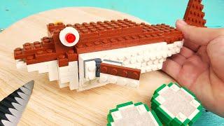 Lego Pufferfish Sashimi - Lego In Real Life | Stop Motion Cooking & ASMR