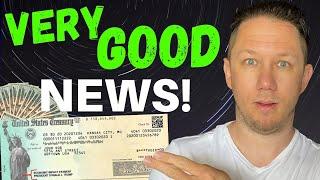VERY GOOD NEWS! Second Stimulus Check Update!