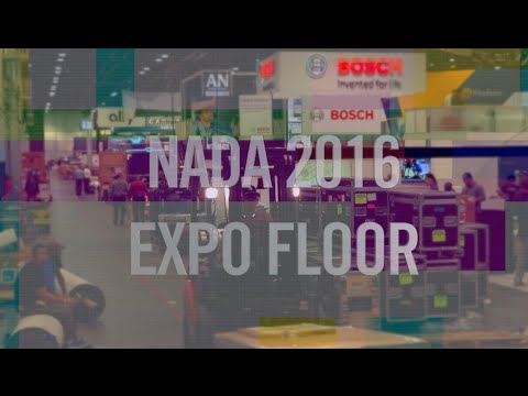 NADA2016 Expo Floor set-up time lapse