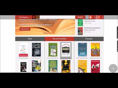 Using the online library membership - IndiaReads.com