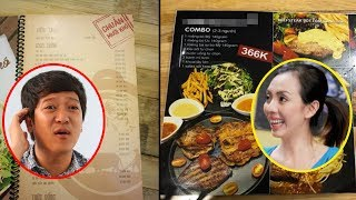 So sánh menu quán cơm Trường Giang và Thu Trang, ai cũng phải tròn mắt khi thấy giá cả - Tin Tức Sao