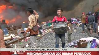 Kebakaran melanda pemukiman padat penduduk di Kampung Baru, Pademangan, Jakut - Jakarta Today 26/01