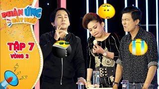 Phản ứng bất ngờ|Tập 7 Vòng 3:Điền Trung đứng hình hứng trọn màn phun nước vị wasabi của Kim Tử Long