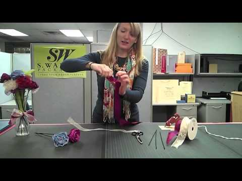 How to make ribbon flowers from wired edge ribbon