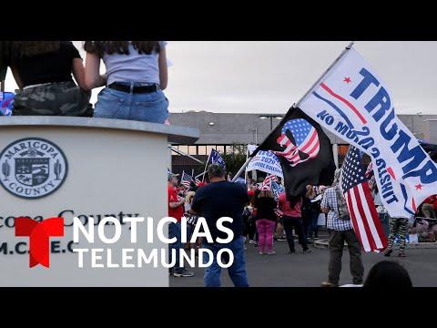 Seguidores de Trump siguen en la calle en Arizona | Noticias Telemundo