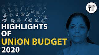 Highlights of Union Budget 2020..