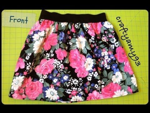 DIY Skirt with Elastic Tutorial - YouTube