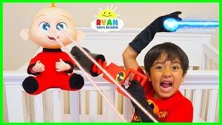 Ryan babysits Jack Jack from Disney Pixar Incredibles 2 Pretend Play!!!