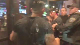 Quick Police response to fight at Don Tito bar in Clarendon Viginia / Washington DC metro