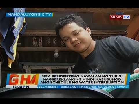 Mga residenteng nawalan ng tubig, nagrereklamong 'di nasusunod ang schedule ng water interruption