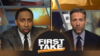 Stephen A. and Max disagree if Warriors or Cavaliers are in more trouble | First Take | ESPN
