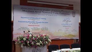 IMC, MANUU_Two Day National Seminar on Empowering Minorities Through Education_Valedictory Function