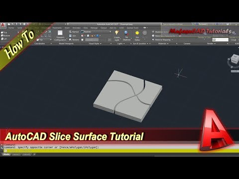 Autocad Tutorial How To Use Slice Surface Command