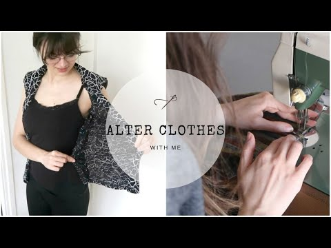 Alter Clothes With Me | Jumpsuit To Top & Changing Sizes