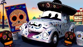 💀 Chếc XE XƯƠNG XẨU Lễ hội của người chết - đội xe tuần tra 🚓 🚒 những bộ phim hoạt hình về xe tải
