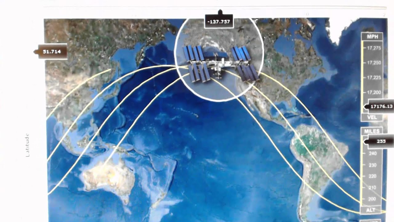 Tracking the International Space Station (ISS) - YouTube