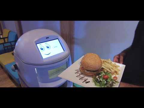A self-sustained, navigation food service Robot