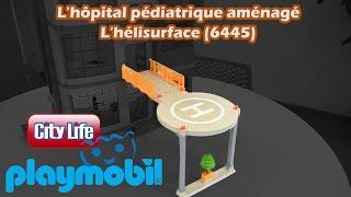 Playmobil (6445) H�lisurface : extension pour h�pital p�diatrique - Construction en fran�ais