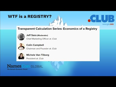 WTF is a REGISTRY? .CLUB Session at Namescon 2020 (How to become a gTLD Registry)