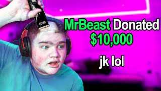 I Faked being MrBeast and Donated to Small Streamers...