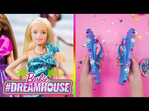 BARBIES DIY rEgEnBoGeN EiS🌈wÜrFeL und GLITZER FLIP FLOPS! | #TraumvillaREMIX | @Barbie Deutsch