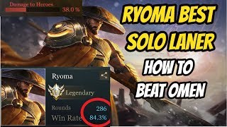 RYOMA BEST TOPLANER | HOW TO BEAT OMEN | 2 Gameplays vs Vitality and VN| Darkbreaker| Arena of Valor