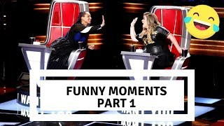 The Voice usa| Funny Moments blind auditions | PART 1