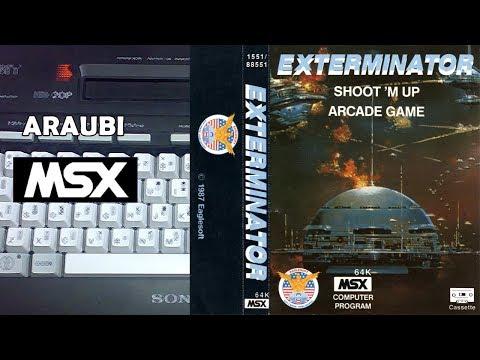 Exterminator (Bytebusters, 1987) MSX [533] Walkthrough Comentado