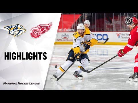 Predators @ Red Wings 4/8/21   NHL Highlights