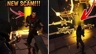 *NEW SCAM* Invisible Barrier Scam! (Scammer Gets Scammed) Fortnite Save The World