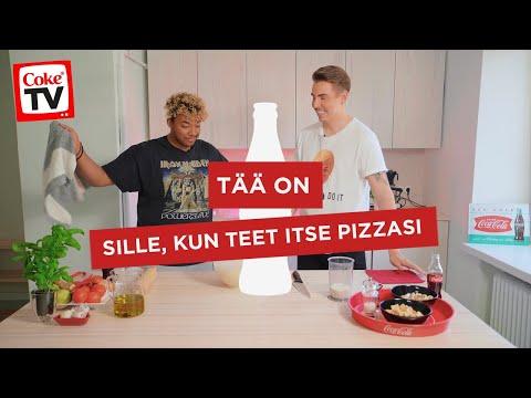 VALTTERI JA ANI TEKEVÄT VEGAANISTA PIZZAA   #CokeTVSuomi
