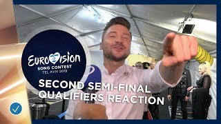 First reaction from the qualifiers of the Second Semi-Final! - Eurovision 2019
