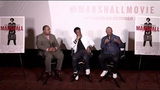 Chadwick Boseman, Reginald Hudlin Discuss An Overlooked Case Thurgood Marshall Took On As A Lawyer