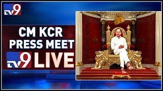 CM KCR Press Meet LIVE    TRS Bhavan - TV9