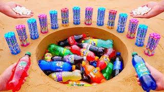 Mirinda Mix-it, Diet Coke, Different Fanta, Coca Cola and Many Other Sodas vs Mentos Underground