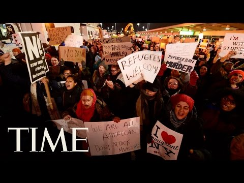 JFK Protest in Response to Trump Executive Order   TIME