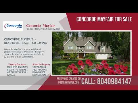 Concorde Mayfair Medahalli   Launched 1, 2, 3 BHK Apartments
