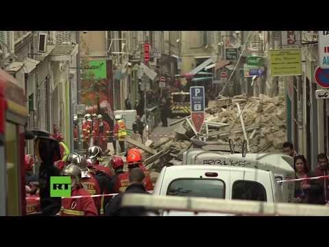 Se derrumban dos edificios de apartamentos en Marsella