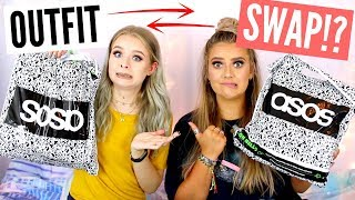 BUYING EACHOTHER'S OUTFITS!! (TRY ON) STYLE SWAP CHALLENGE WITH EMMA | sophdoesnails