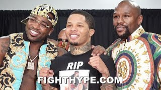 MAYWEATHER, ADRIEN BRONER, & GERVONTA DAVIS REUNITE; CELEBRATE DAVIS KO GIFT ON BRONER 30TH BIRTHDAY