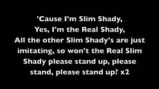 The Real Slim Shady - Eminem [Lyrics]