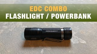 $45 Flashlight // Powerbank Combo | Folomov EDC C4 Light | Simple Overview