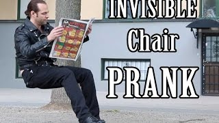 Invisible Chair PRANK    -Julien Magic