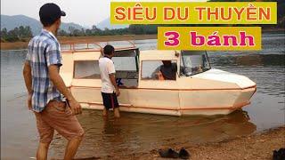🚢🚢Trải Nghiệm SIÊU DU THUYỀN Tự Chế Của Bác Nông Dân🚢🚢 (Farmer invented 3 wheels yachts)