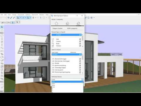 ARCHICAD 20 - Saving a SketchUp 3D Model File
