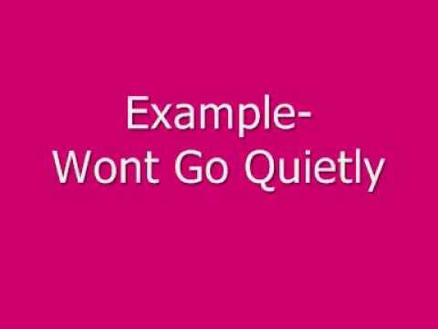 Example-Wont Go Quietly.