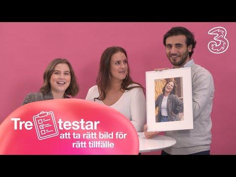 Tre testar att ta rätt bild för rätt tillfälle   Tre Sverige