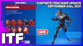 Fortnite Item Shop *NEW* EDDIE BROCK  + VENOM BUNDLE! [September 23rd, 2021] (Fortnite BR)